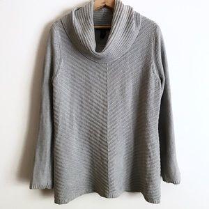 Style &Co Gray Knit Sweater w/Silver Accent Thread